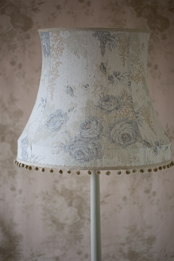 Cabbages & Roses 'Mary' Traditional Bowed Drum Lampshade