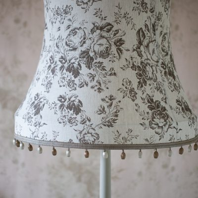 Cabbages & Roses Paris Rose Charcoal Tailored Lampshade 01