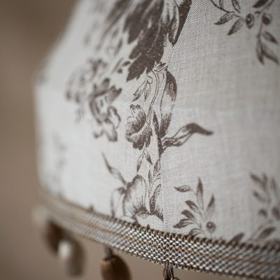 Cabbages & Roses Paris Rose Charcoal Tailored Lampshade 02