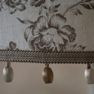 Cabbages & Roses Paris Rose Charcoal Tailored Lampshade 03