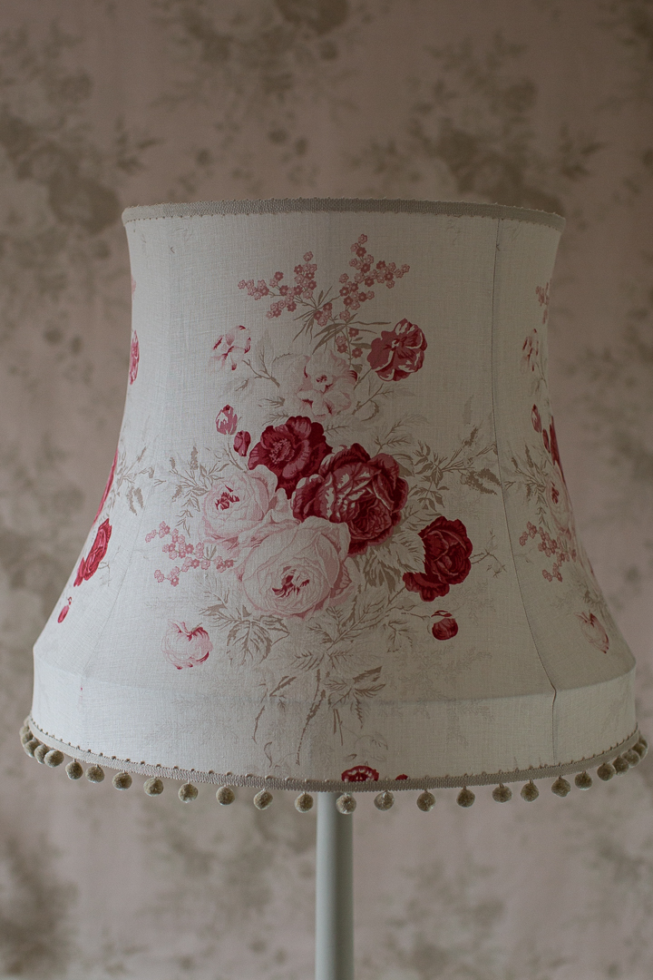 Kate Forman 'Roses' Traditional Bowed Drum Lampshade