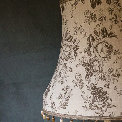 Cabbages & Roses Bowed Drum Lampshade